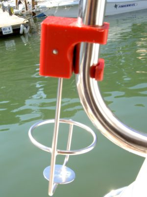 Drinkholder for Guard Rails and Stanchions